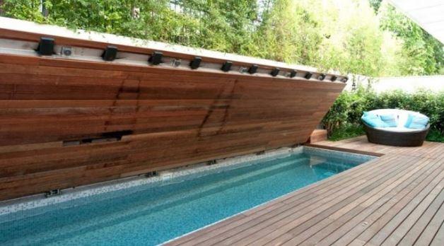 Mái che hồ bơi dạng gập giá rẻ TPHCM