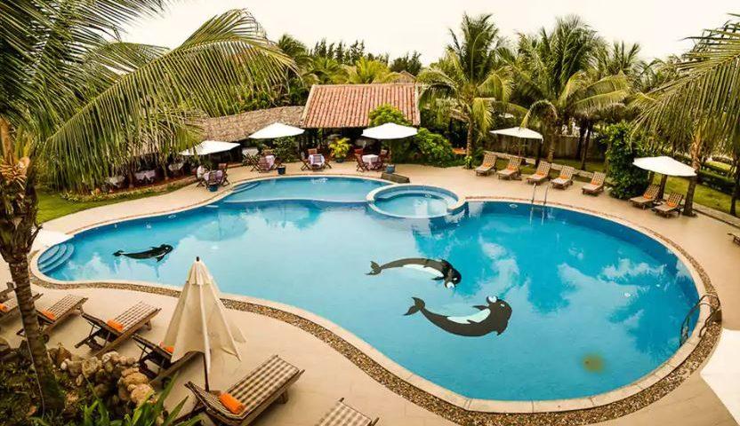 Mẫu thiết kế hồ bơi resort đạt chuẩn giá tốt