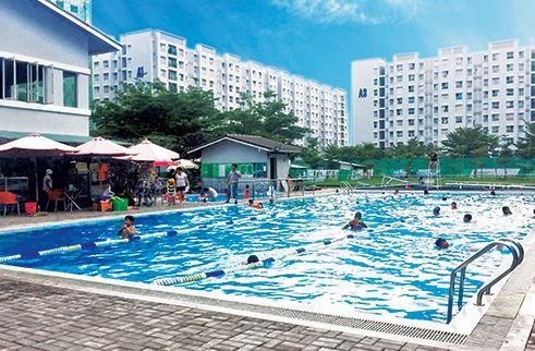 Xây dựng hồ bơi trẻ em tại chung cư, căn hộ, trường học