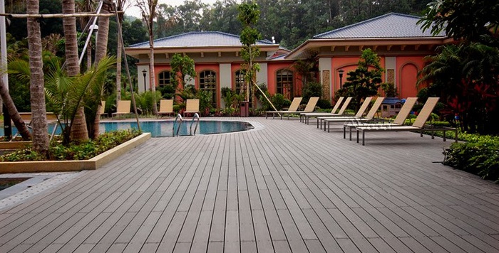 sàn gỗ hồ bơi, bể bơi